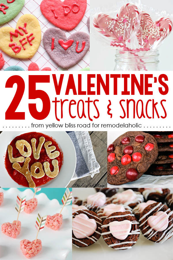 Remodelaholic 25 Sweet Treats For Valentine S Day Free Printable