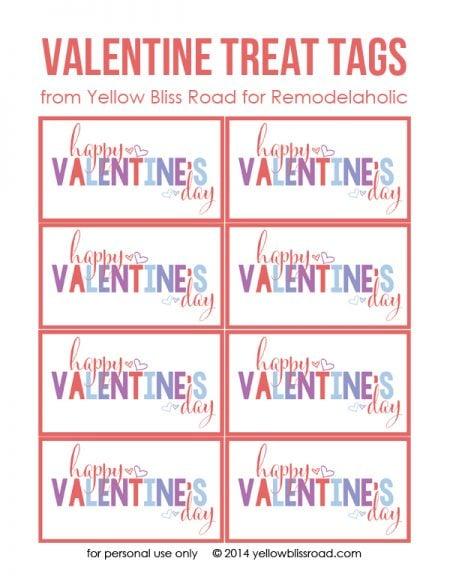Valentine's Treat Tags