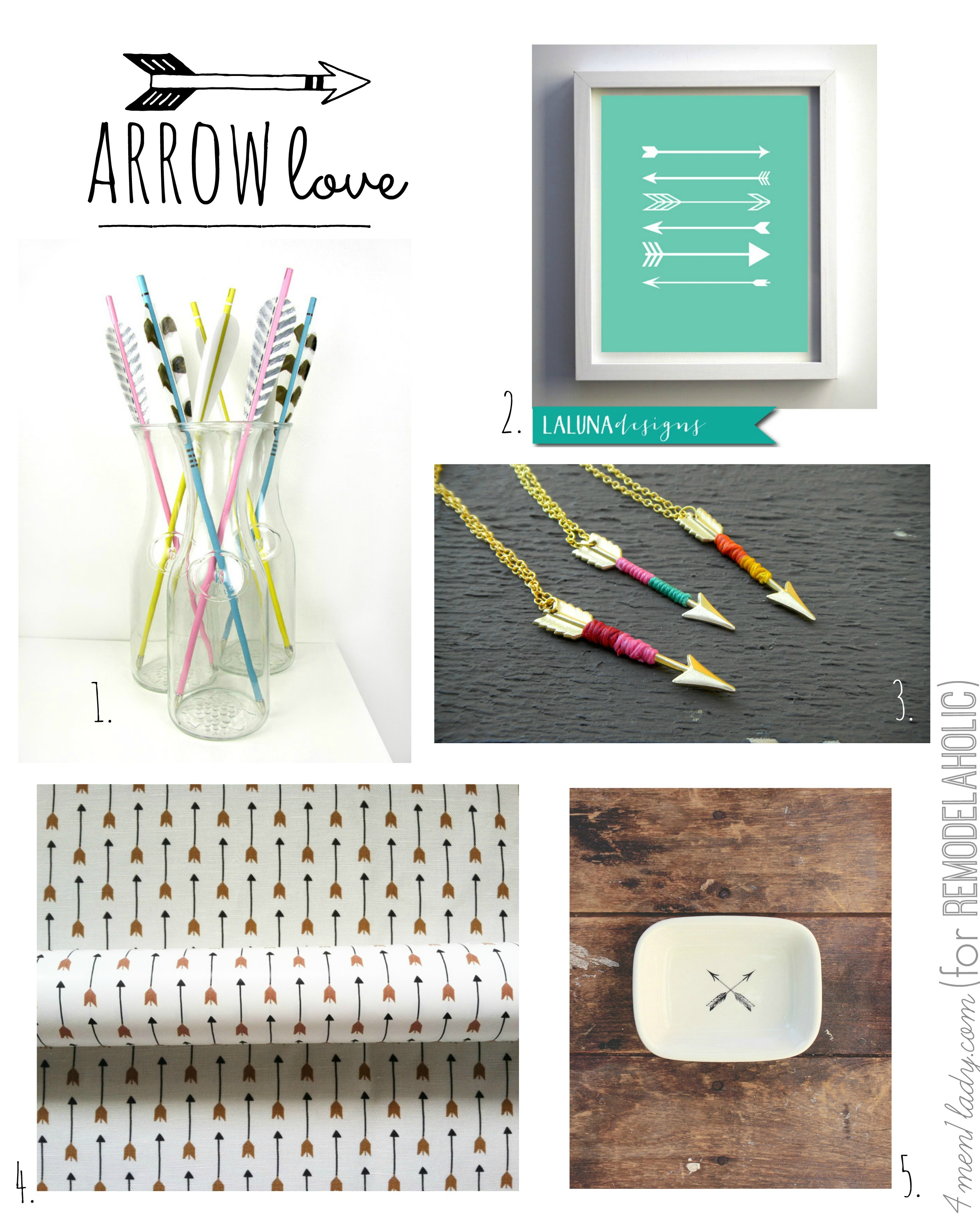 arrow love | 4men1lady for Remodelaholic.com