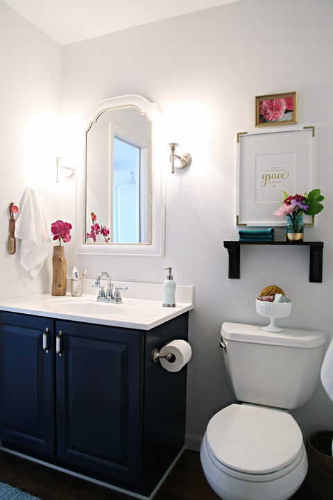 blue and black bathroom ideas remodelaholic best colors for your home navy blue 8405