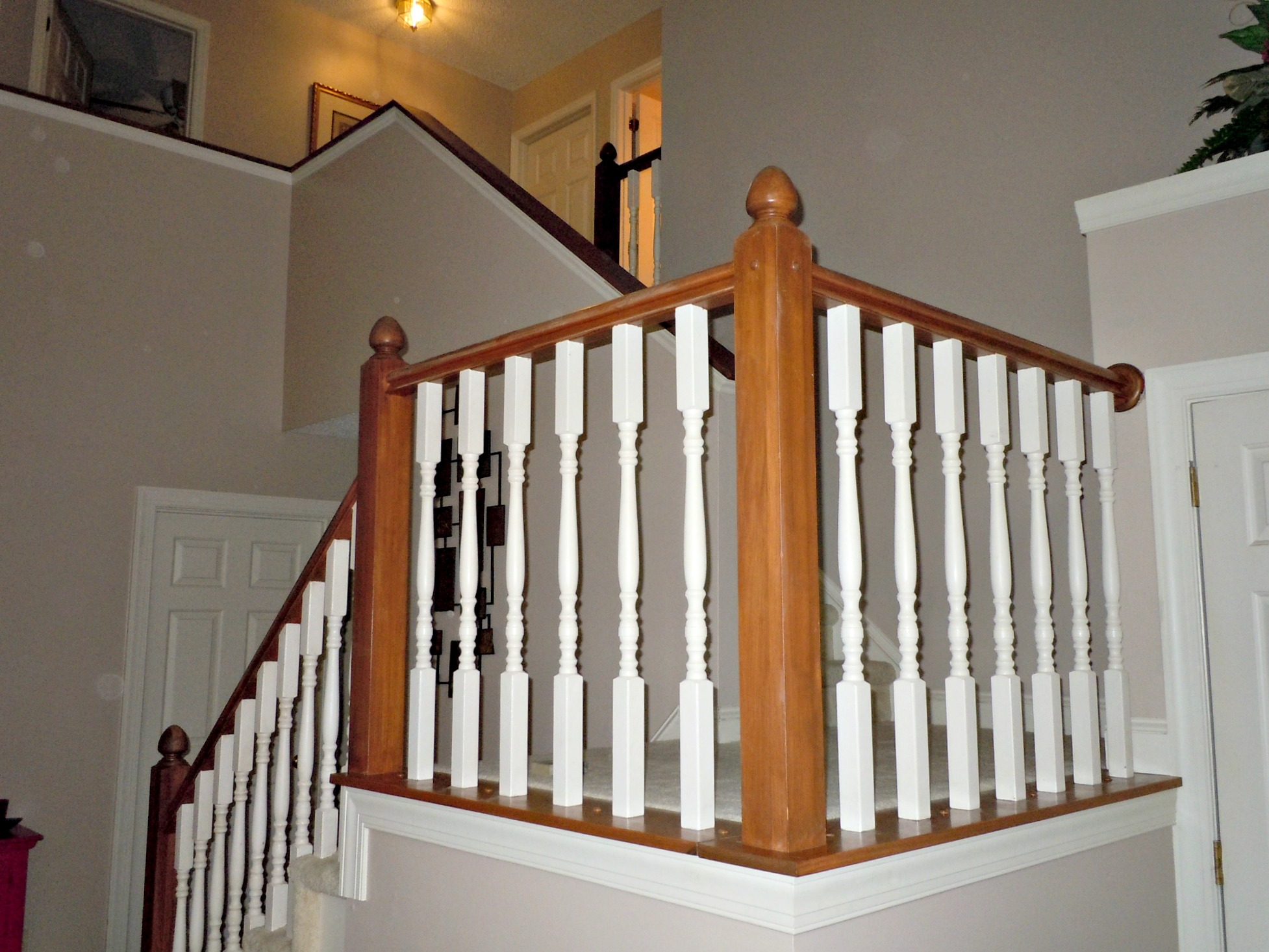 Remodelaholic | DIY Stair Banister Makeover Using Gel Stain