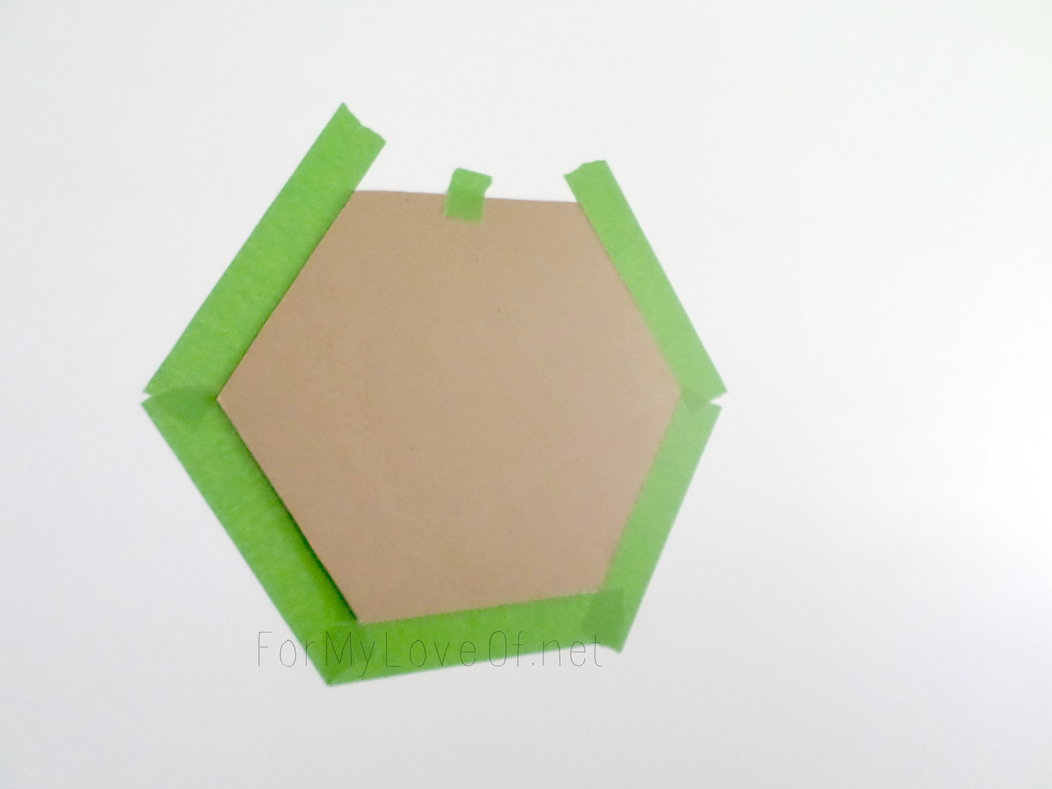 Remodelaholic diy ombre painted hexagon accent wall cardboard hexagon stencil for accent wall for my love of featured on remodelaholic amipublicfo Gallery