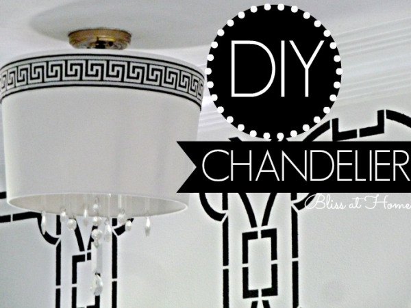 Remodelaholic diy drum shade chandelier diy drum shade chandelier bliss at home featured on remodelaholic lightfixture mozeypictures Choice Image