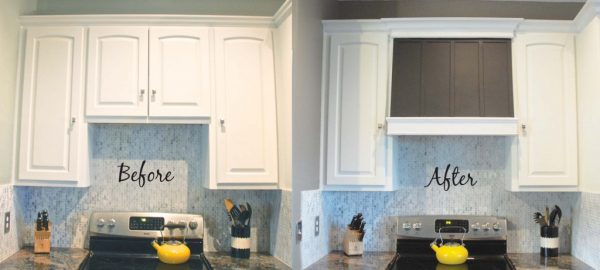 diy custom range hood before and after, The Rozy Home featured on Remodelaholic