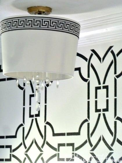 Diy Foyer Light : Remodelaholic diy drum shade chandelier