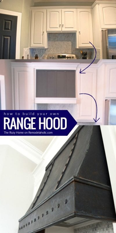 Diy Range Hood Tutorial The Rozy Home On Remodelaholic