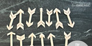 diy wooden paint stick arrow christmas ornaments