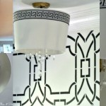 feature DIY chandelier from drum shade