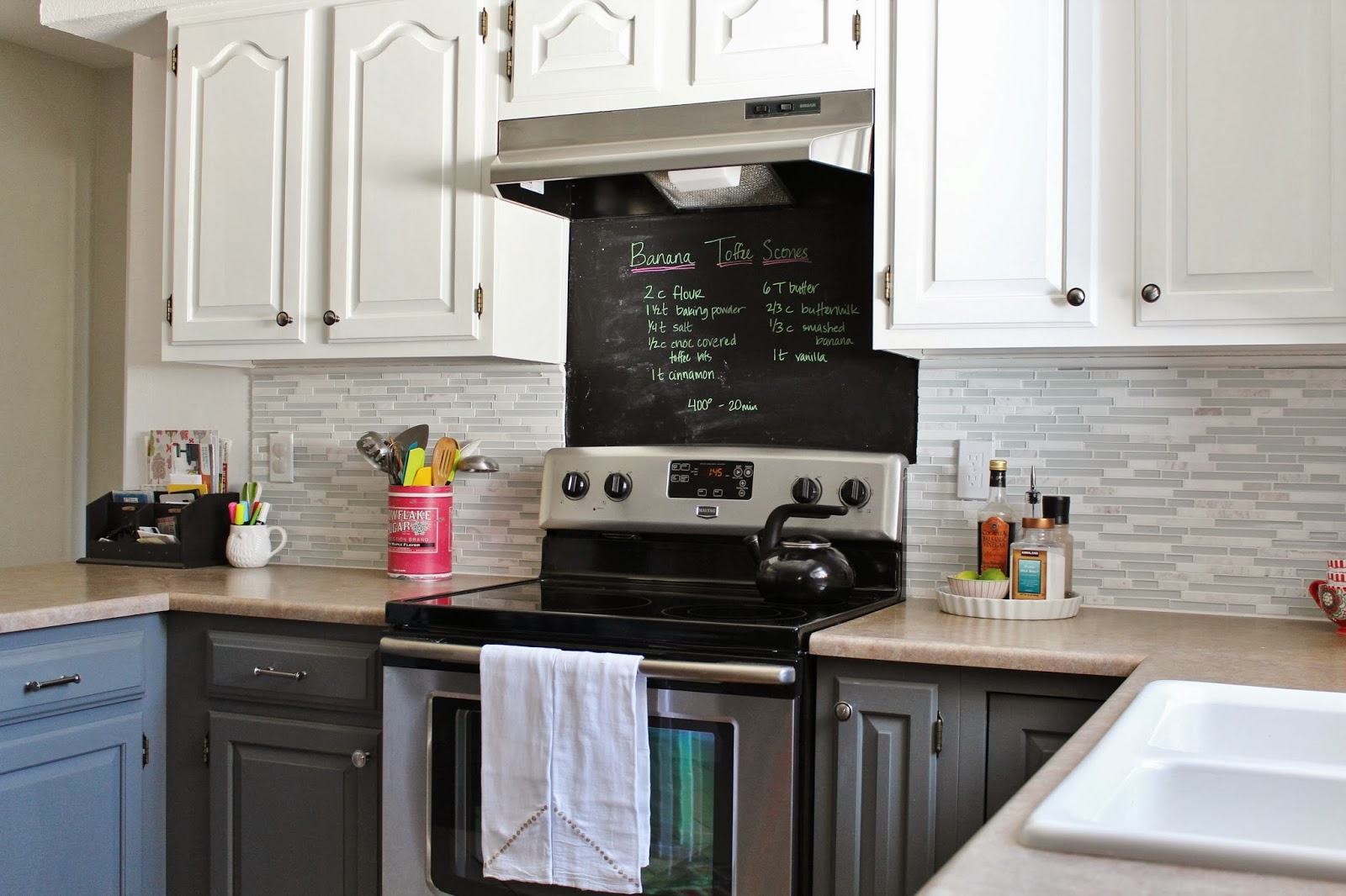 Kitchen Backsplash Grey remodelaholic | grey and white kitchen makeover