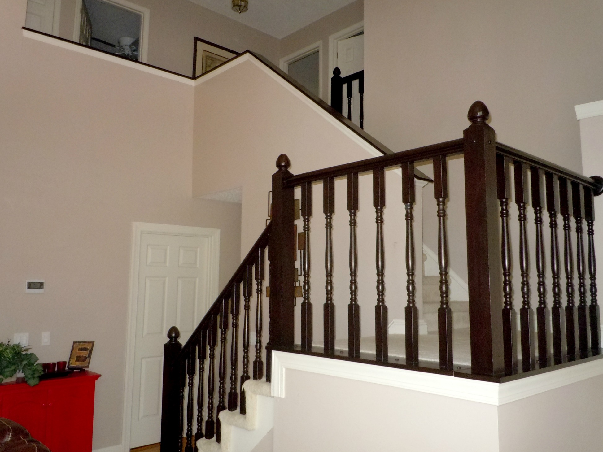 Painting Oak Kitchen Cabinets Espresso Remodelaholic Diy Stair Banister Makeover Using Gel Stain