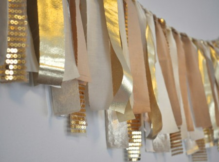 Sequin garland Decor idea