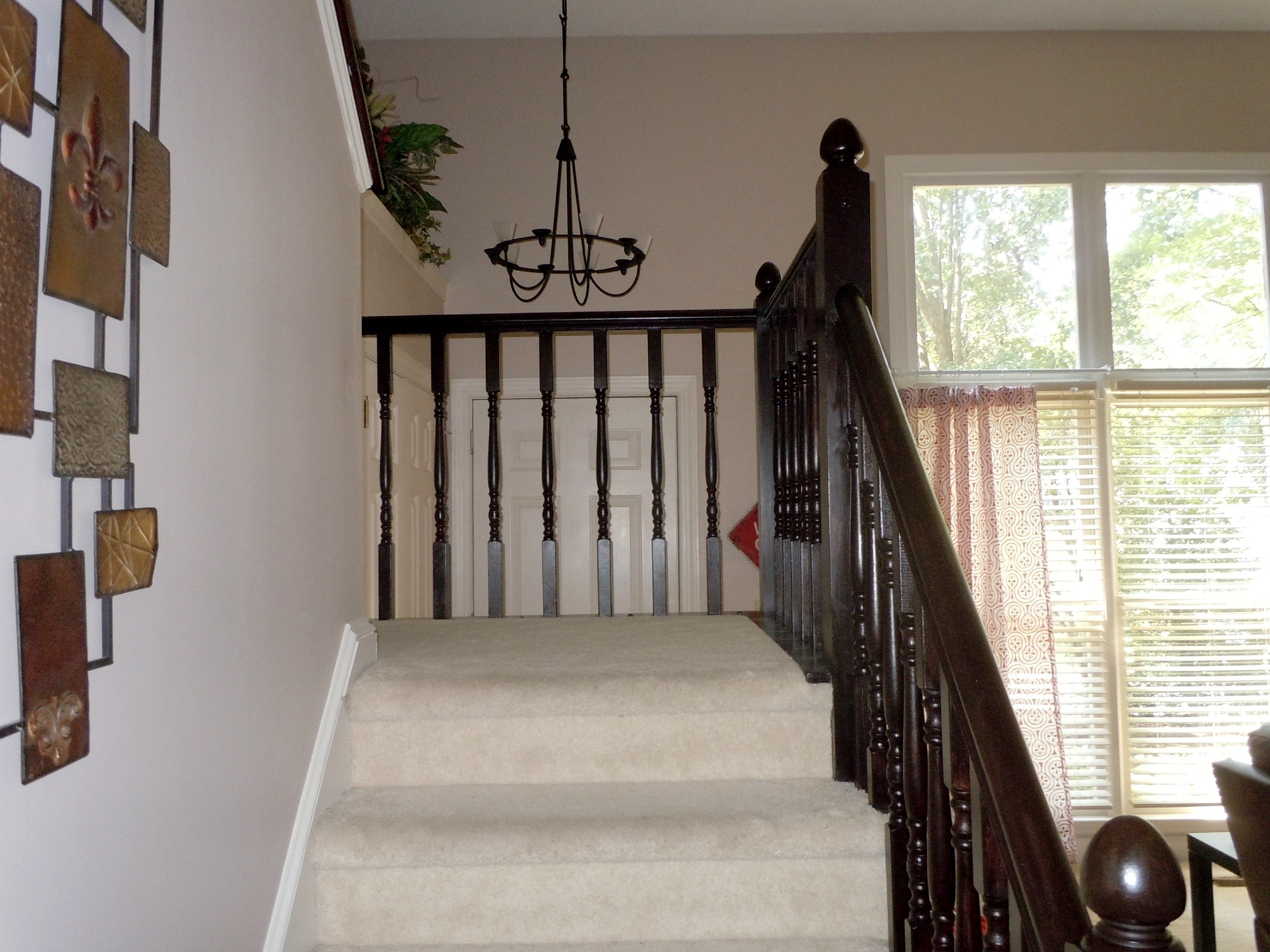 Java Gel Stain Stair Banister   A Diy Tutorial, Semi Domesticated Mama  Featured On