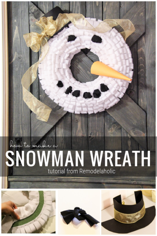Winter decorations, Make A Snowman Wreath With This Tutorial From Remodelaholic