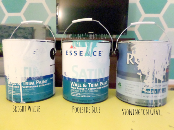 ombre paints for a hexagon accent wall and how to mix paint colors on your own, For My Love Of featured on Remodelaholic