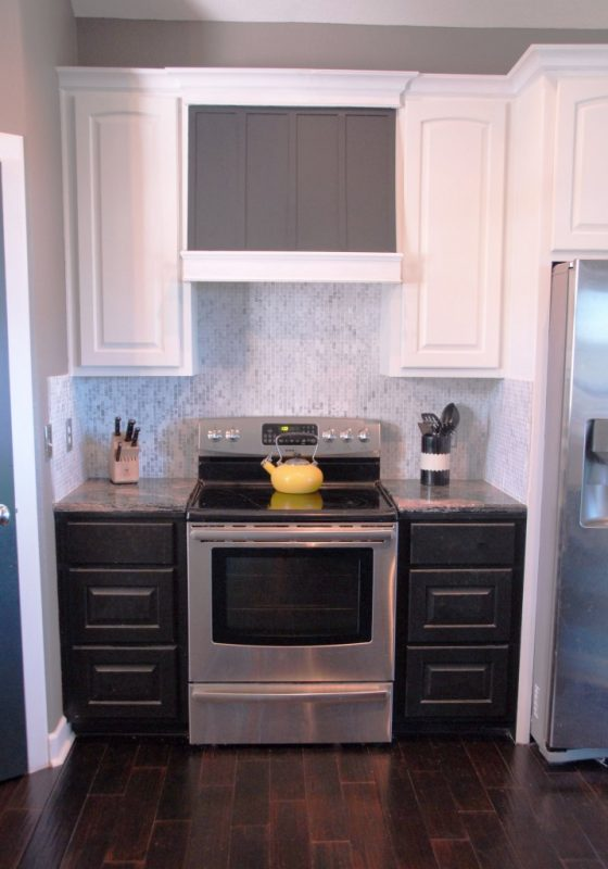prime and paint a diy custom range hood, The Rozy Home featured on Remodelaholic