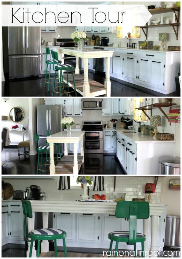 Remodelaholic 1960 S Ranch Kitchen Renovation With Custom Island