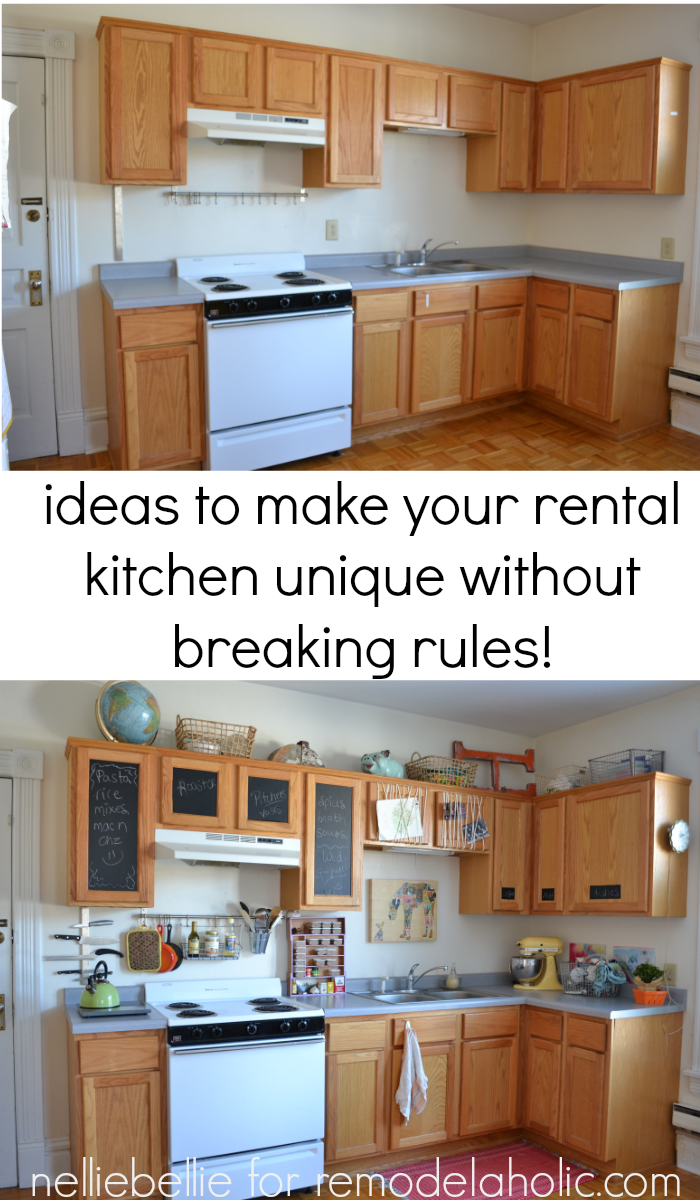 Remodelaholic how to bring personality to your rental for Kitchen ideas apartment