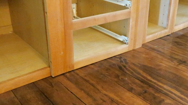 replace cabinet kickplate, Home Is Where My Heart Is featured on Remodelaholic