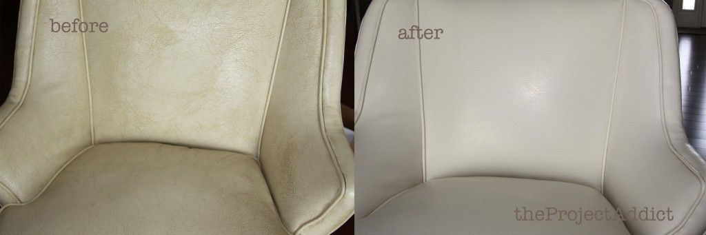 ... Restoring A Leather Chair, The Project Addict Featured On Remodelaholic
