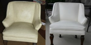 restoring a leather chair using rub n restore