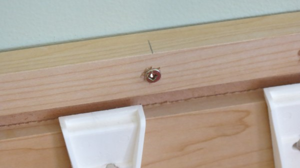 screw built-in desk cabinets to wall stud, Home Is Where My Heart Is featured on Remodelaholic