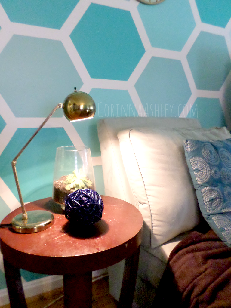 Remodelaholic diy ombre painted hexagon accent wall how to paint an ombre hexagon accent wall for my love of featured on remodelaholic solutioingenieria Image collections