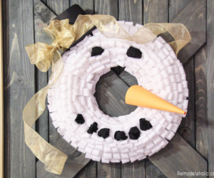 Snowman Wreath Tutorial From Remodelaholic