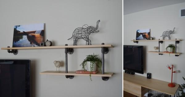 styled bookshelf at remodelaholic.com