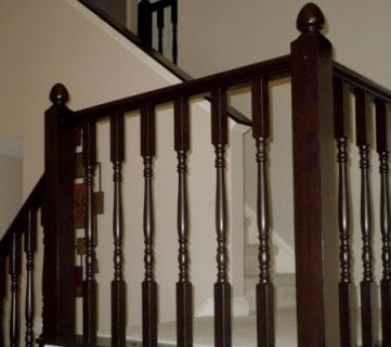 DIY Stair Banister Makeover Using Gel Stain