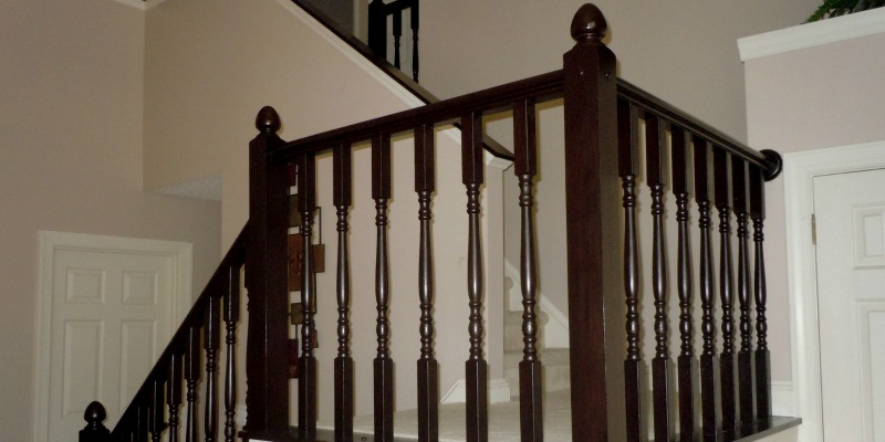 Remodelaholic | DIY Stair Banister Makeover Using Gel Stain