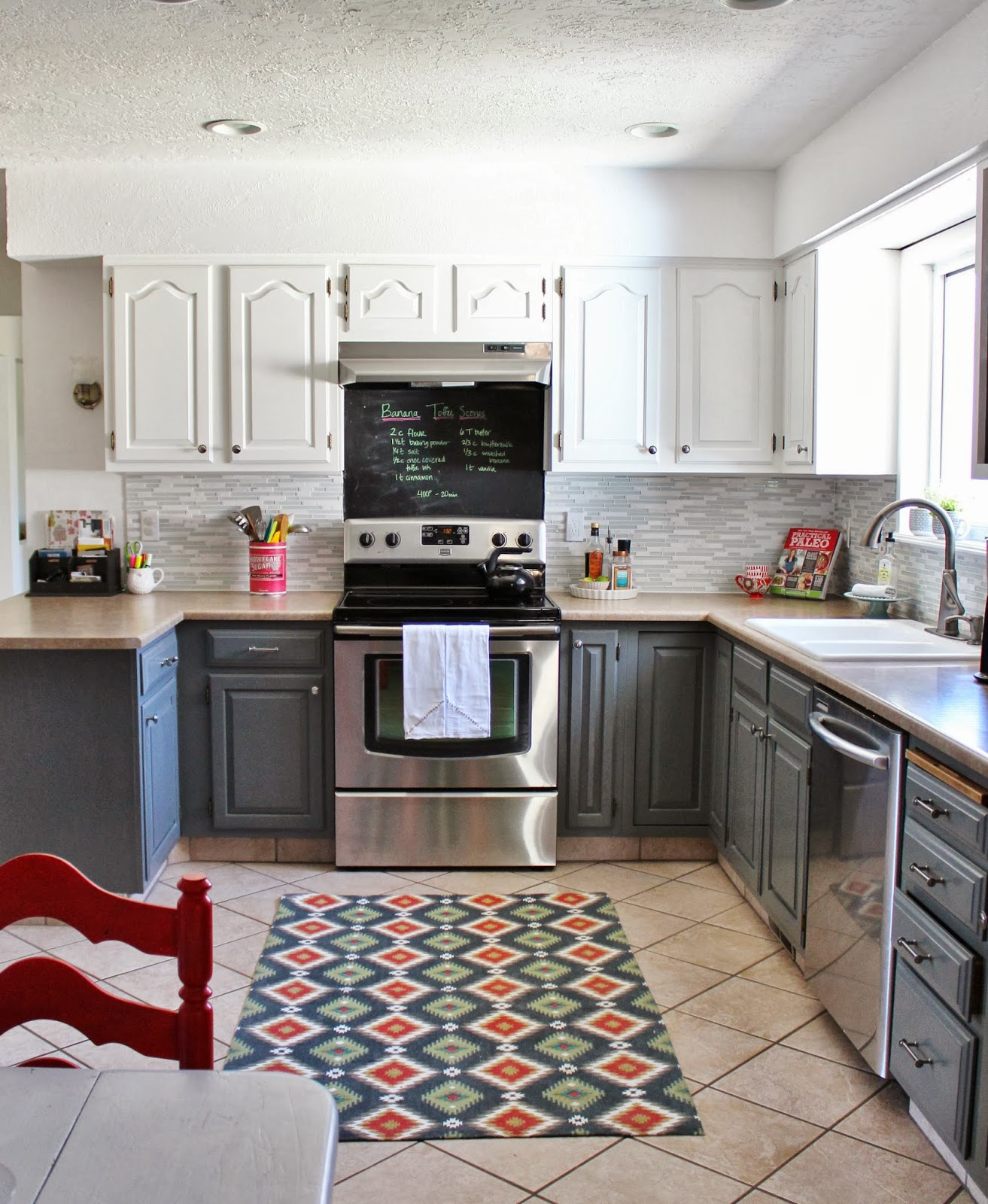 Grey Kitchen Cabinets: Grey And White Kitchen Makeover