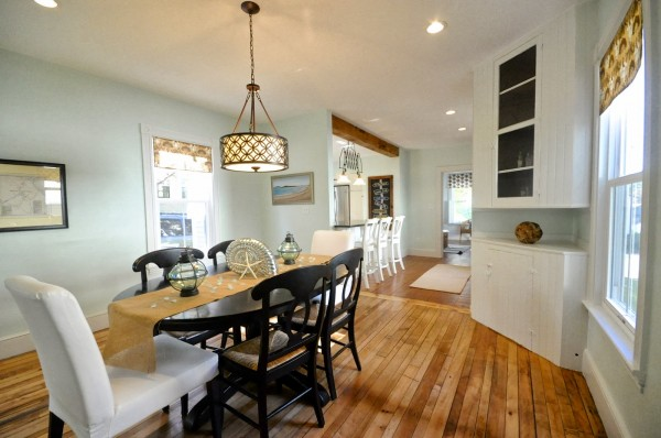updated new englander dining room with pendant light sopo cottage featured on remodelaholic - Dining Room Remodel