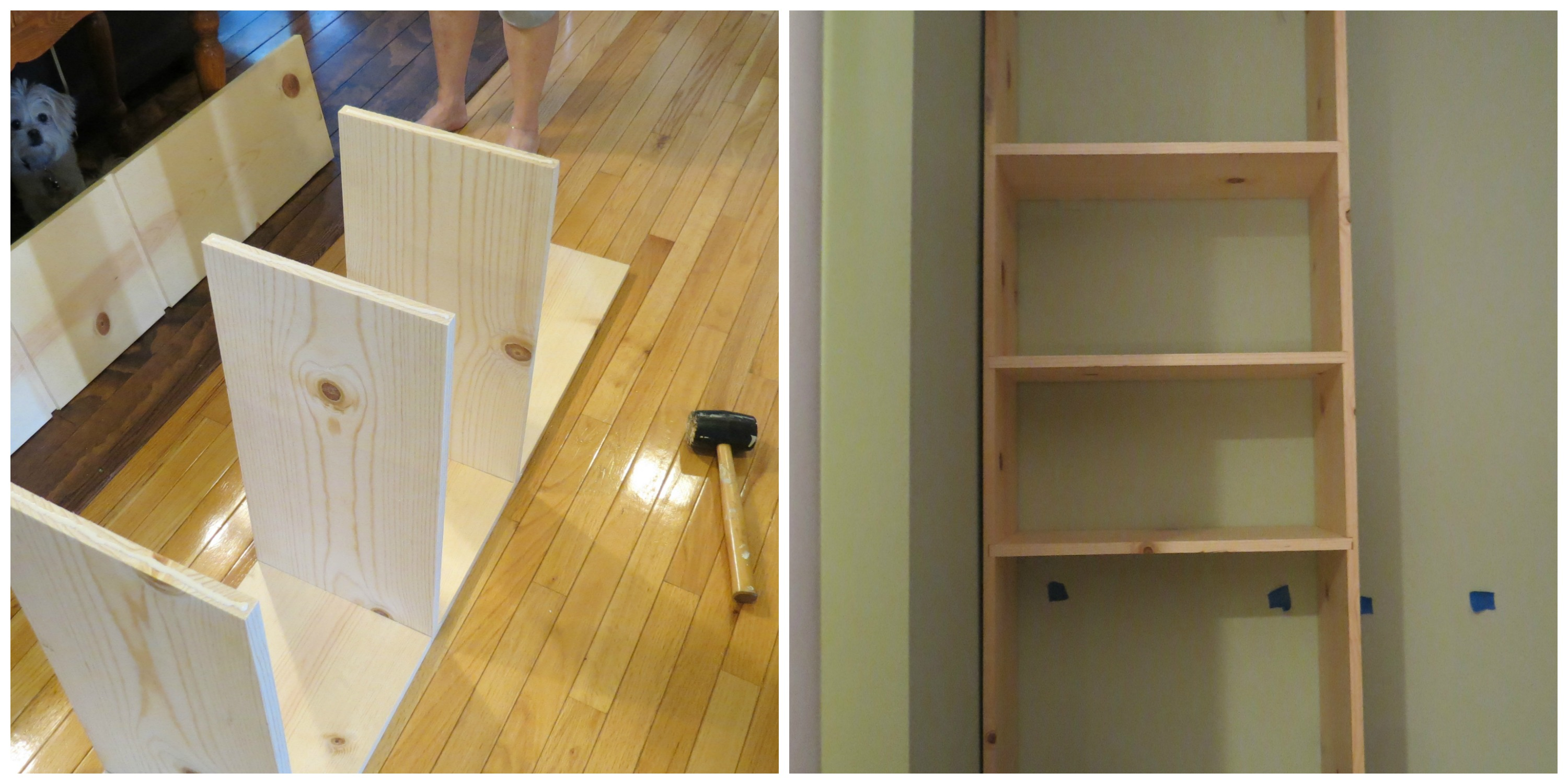 Use Router For Shelf Slots In A Built Bookcase Home Is Where My