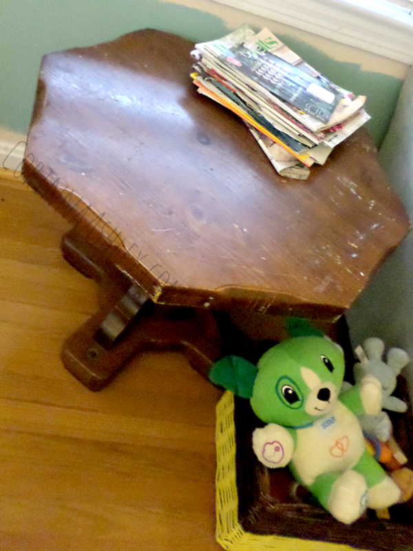 vintage octagon table, For My Love Of featured on Remodelaholic