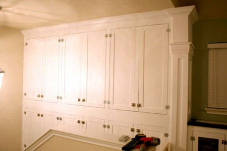 Wall Of Built In Cabinets For Family Room Storage Remodelaholic