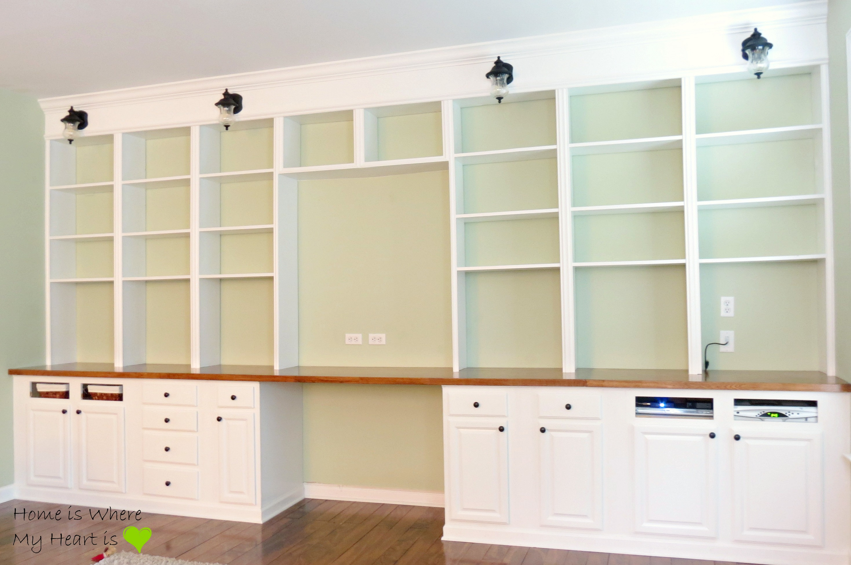 Delightful ... Wall To Wall Built In Desk And Bookcase | Home Is Where My ...