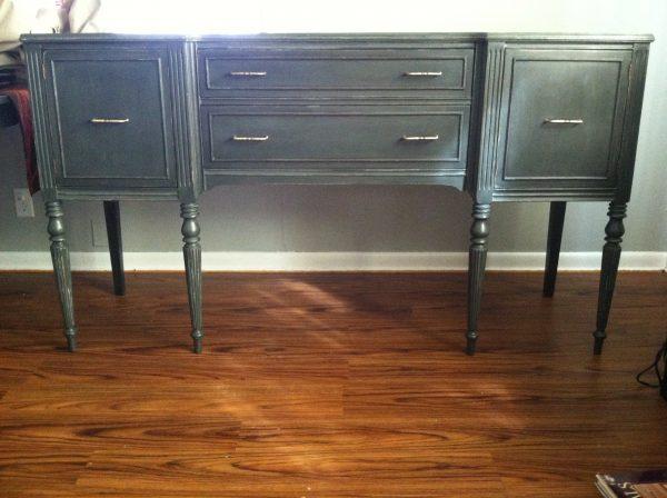 01-03 vintage sideboard table makeover, Design Dreamer