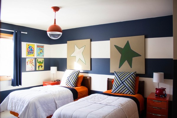01-10 stars and stripes boys room, The Divine Living Space