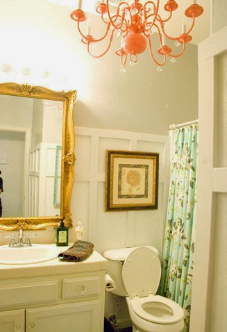 $100 chic budget bathroom makeover, Vintage Romance featured on Remodelaholic