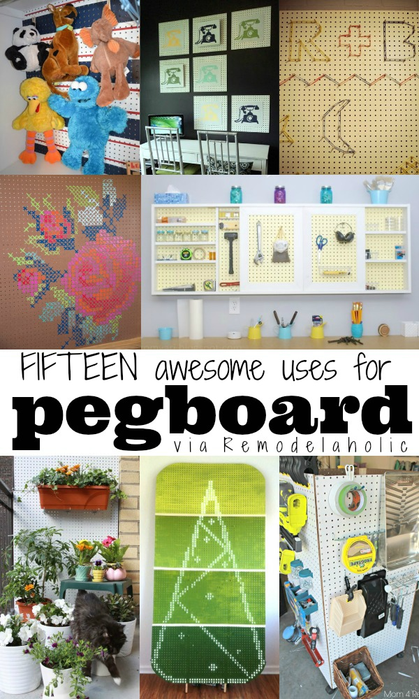 remodelaholic 15 creative uses for pegboard