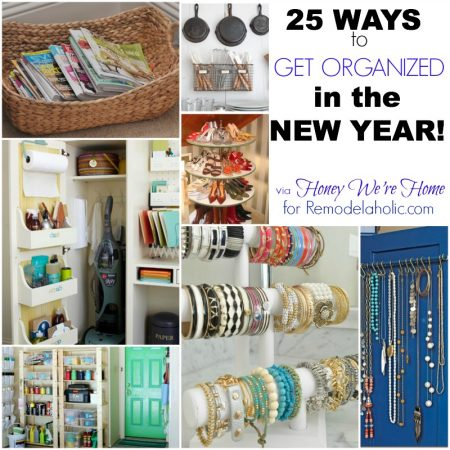 25 Ways to Get Organized via Romedelaholic.com