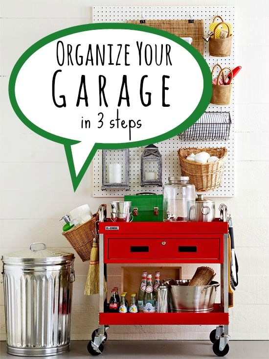 3 tips to organize your garage