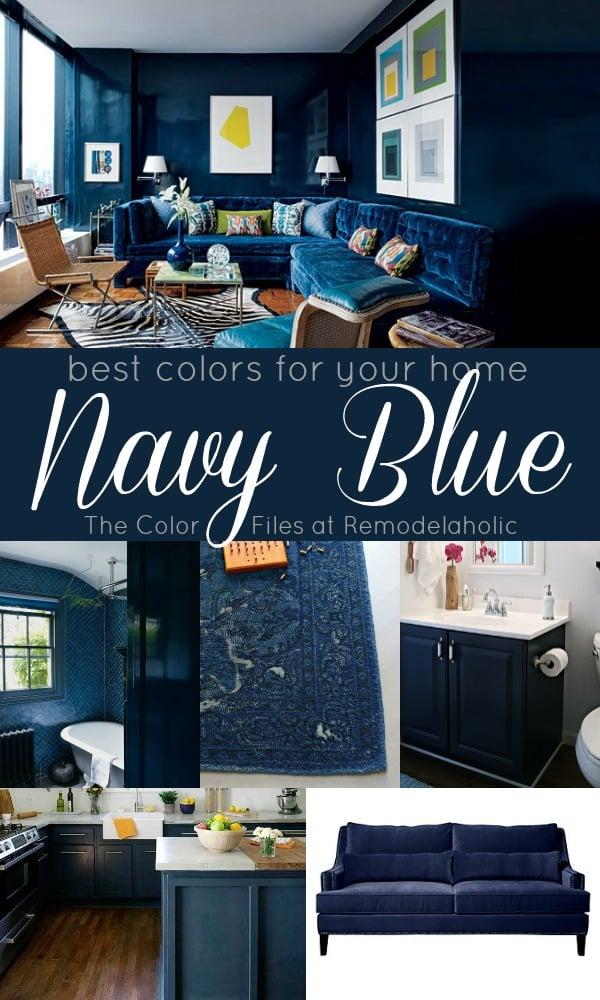 remodelaholic best colors for your home navy blue. Black Bedroom Furniture Sets. Home Design Ideas