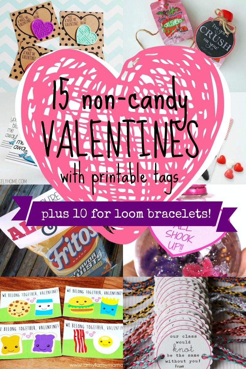 25 Non Candy Valentines For Kids   Including Loom Bracelets! #valentines  #sugarfree