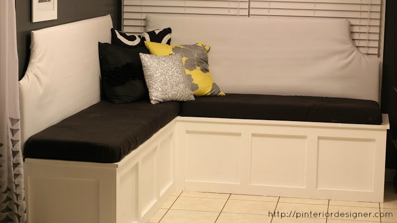 DIY Custom Corner Banquette Bench, Pinterior Designer Featured On  Remodelaholic