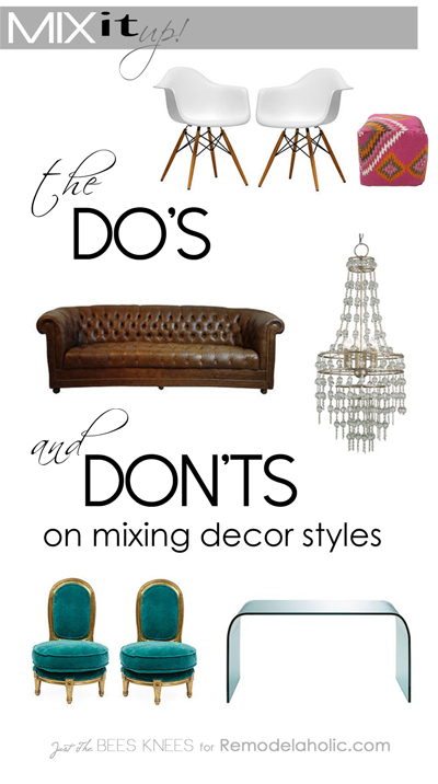 home design do s and don ts mix it up the do s and don ts of mixing decor styles 24006