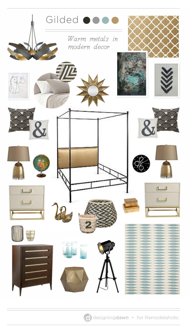 Gilded mood board designingdawn for for Best home decor boards on pinterest