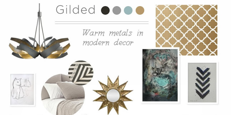 A Gilded Mood Board – Using Warm Metals in Modern Decor