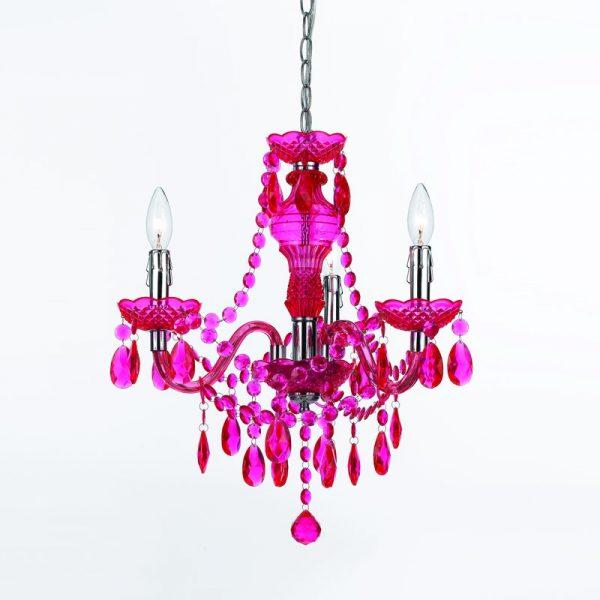 fuchsia chandelier