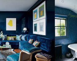 Navy Blue Home Inspiration via Remodelaholic